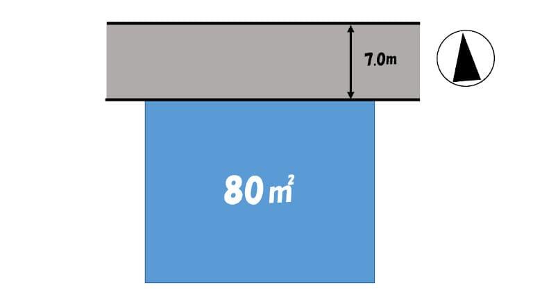 土地測量図のイメージ