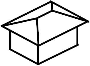 寄棟屋根のイメージ図