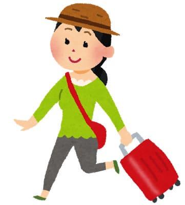 旅行にいく女性